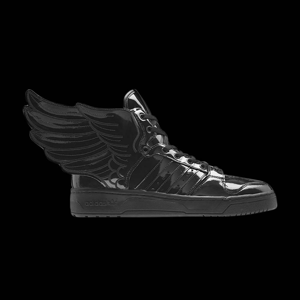 Jeremy Scott x Wings 2.0 'Black' adidas Q23668   GOAT