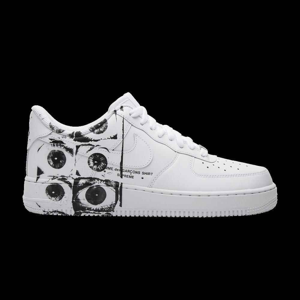 esfera Oficial asentamiento  Comme des Garçons x Supreme x Air Force 1 Low 'Eyes' - Nike - 923044 100    GOAT