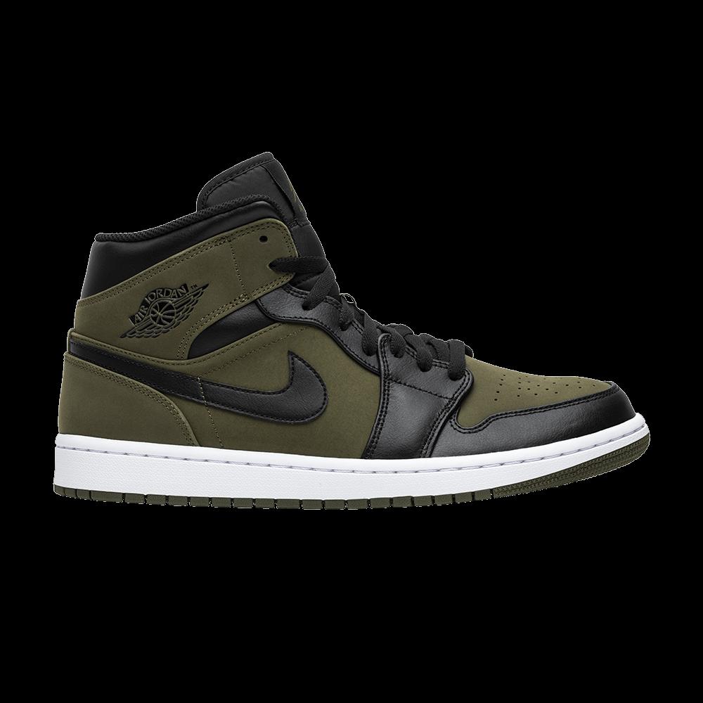 Air Jordan 1 Mid 'Olive Canvas'