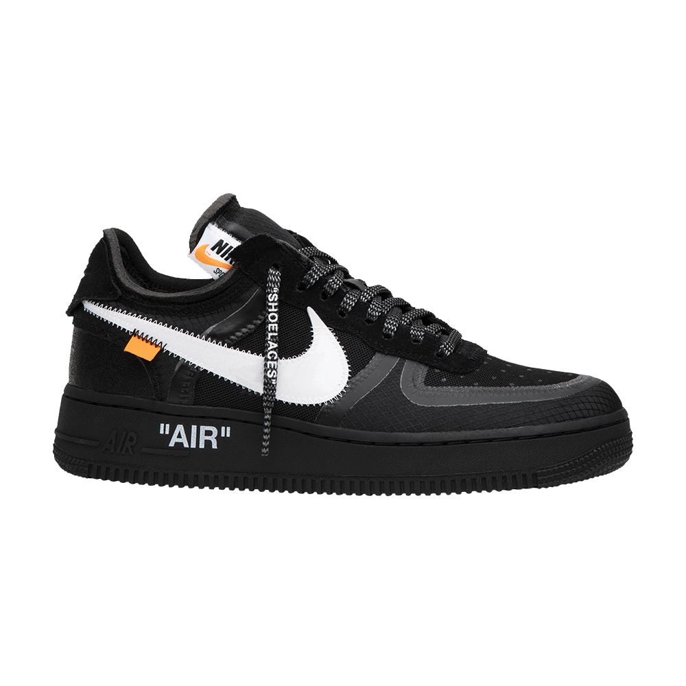 Off White X Air Force 1 Low Black Nike Ao4606 001 Goat