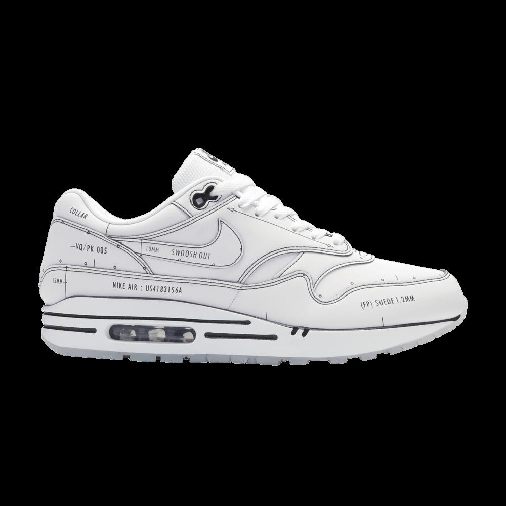 Air Max 1 Sketch To Shelf White Nike Cj4286 100 Goat