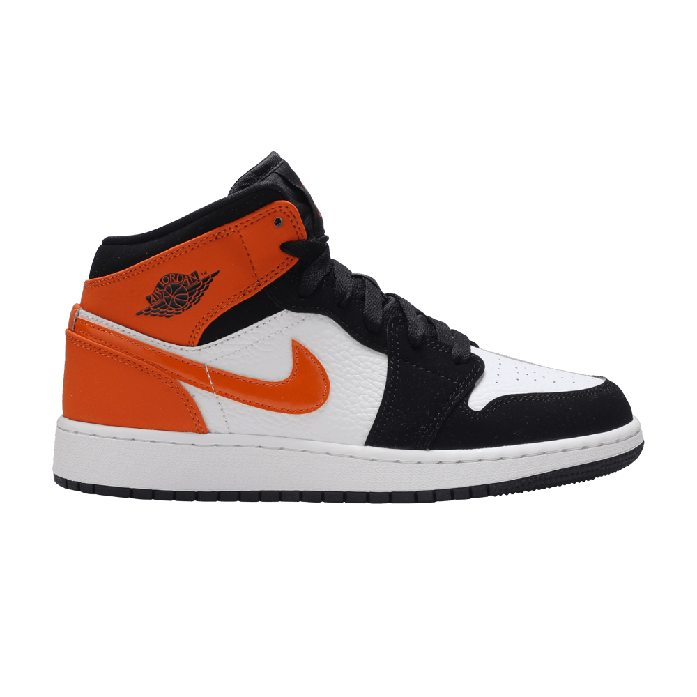 air jordan 1 mid starfish orange junior