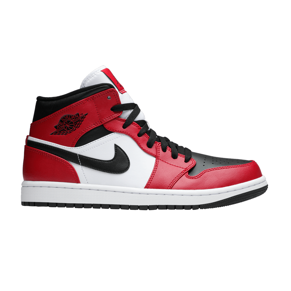 Air Jordan 1 Mid 'Chicago Black Toe' - Air Jordan - 554724 ...
