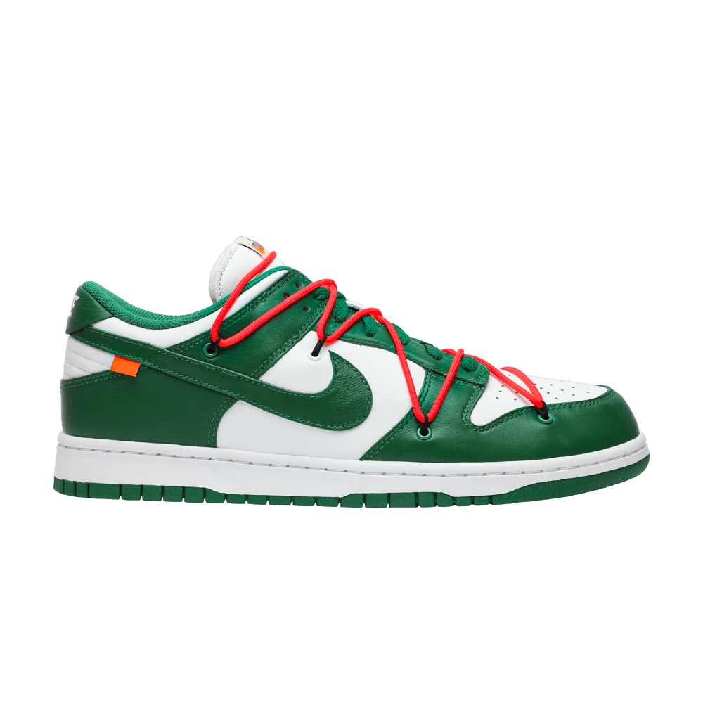 proteger Diligencia Amoroso  Off-White x Dunk Low 'Pine Green' - Nike - CT0856 100 | GOAT