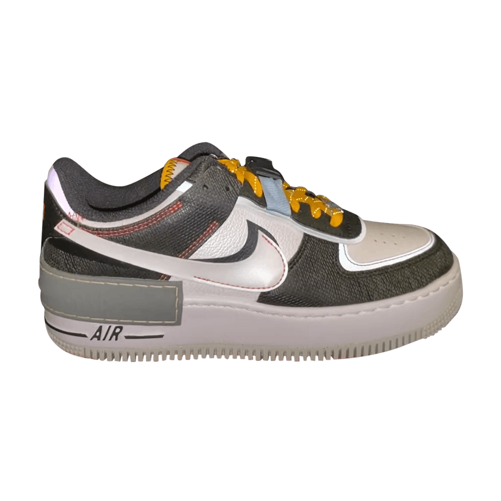 Wmns Air Force 1 Shadow Spiral Sage Nike Dc2542 001 Goat Женские nike air force 1 shadow with orange accents. wmns air force 1 shadow spiral sage