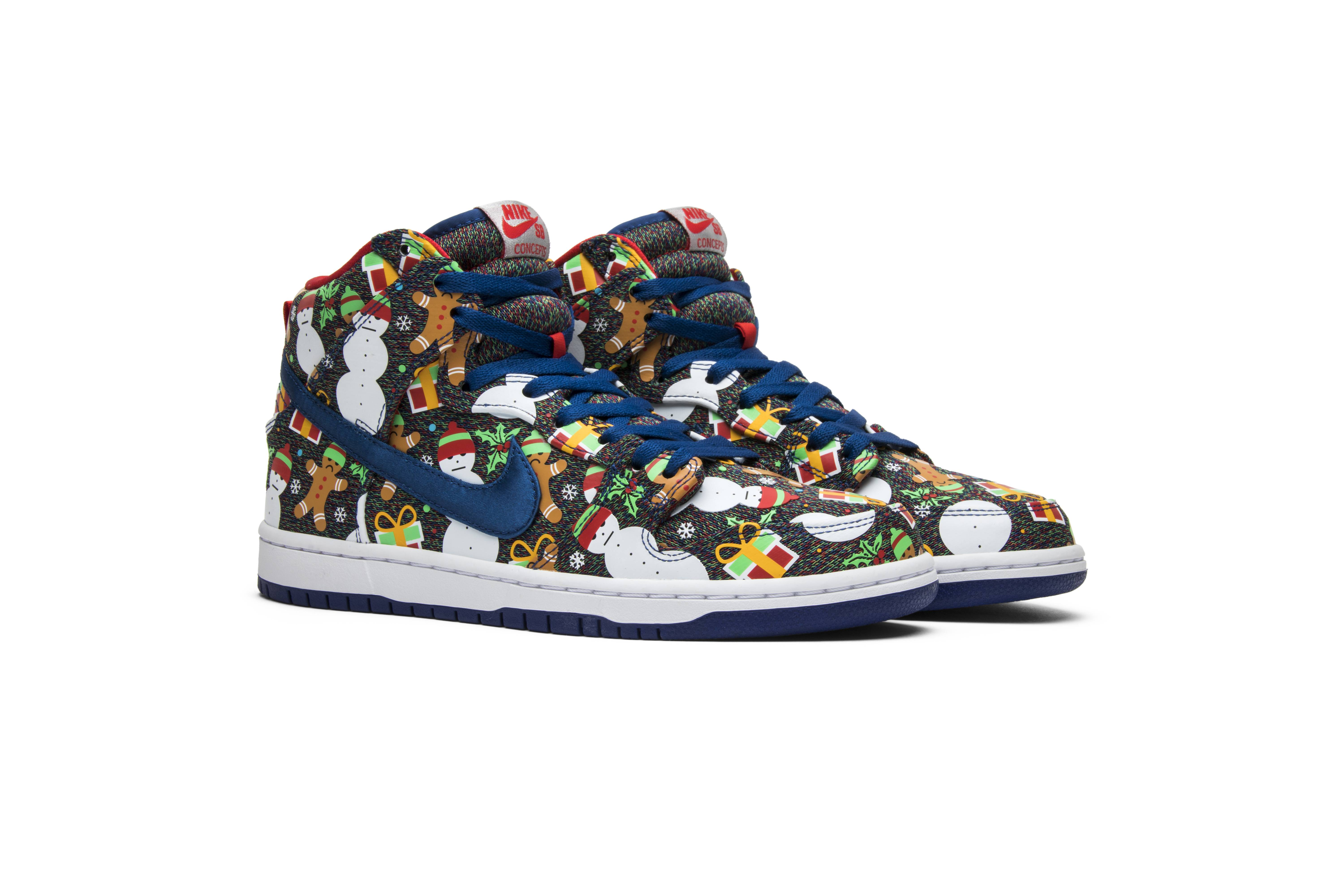Concepts x SB Dunk Pro High \'Ugly Christmas Sweater\' 2017 - Nike ...
