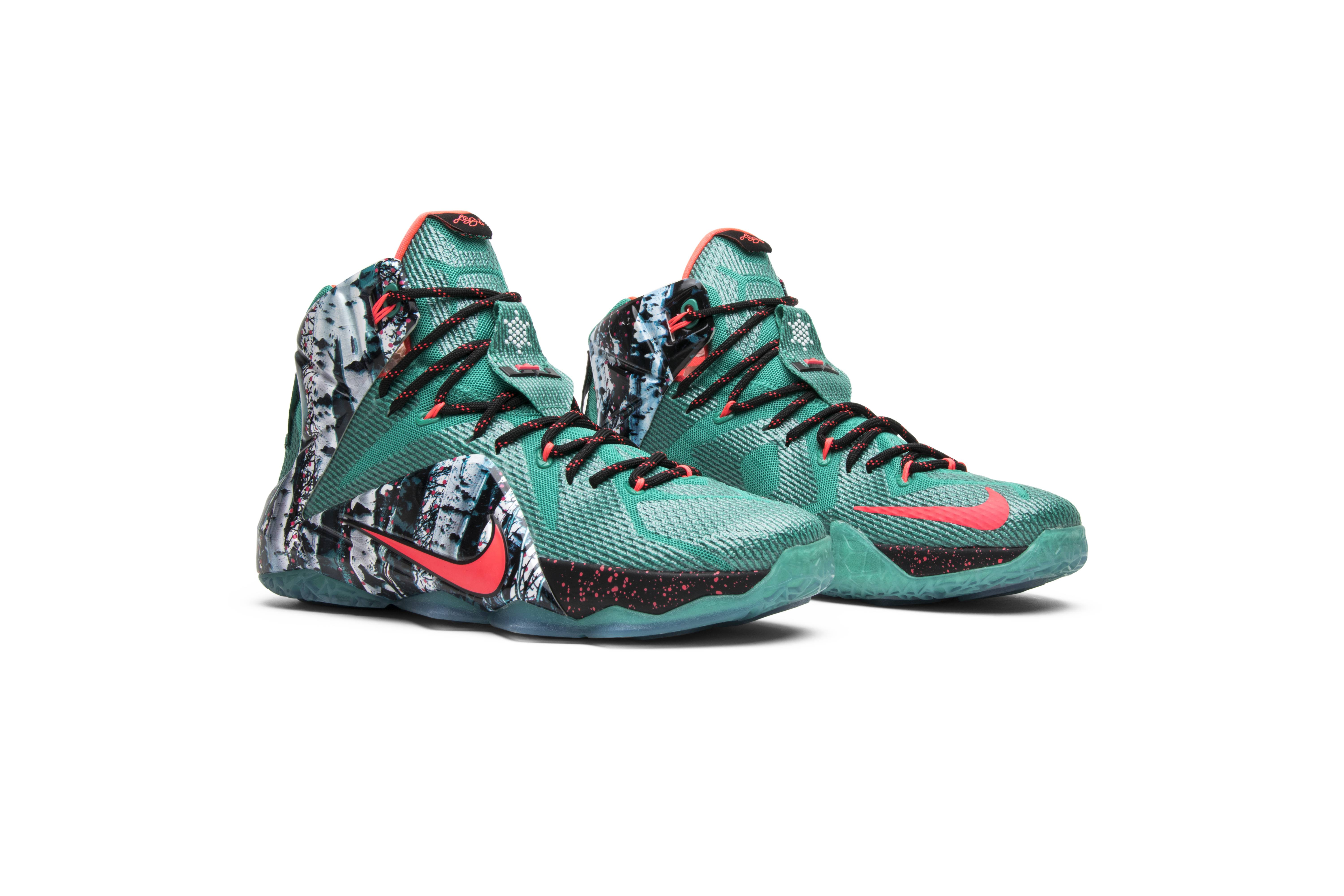 separation shoes 6c43b f89e1 ... coupon for lebron 12 gs buckets nike 685181 401 goat 89993 37172
