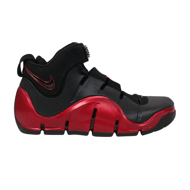38c7cfeb881 Zoom LeBron 4  Black Crimson  - Nike - 314647 002