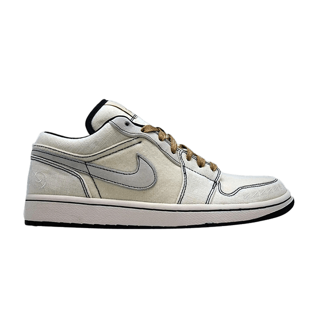 68634f108e9 Air Jordan 1 Phat Low Canvas 'Derek Jeter' - Air Jordan - 395669 102 | GOAT