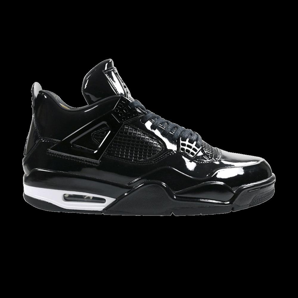 8f0f2277e3a01c Air Jordan 4 Retro 11Lab4  Black Patent Leather  - Air Jordan - 719864 010