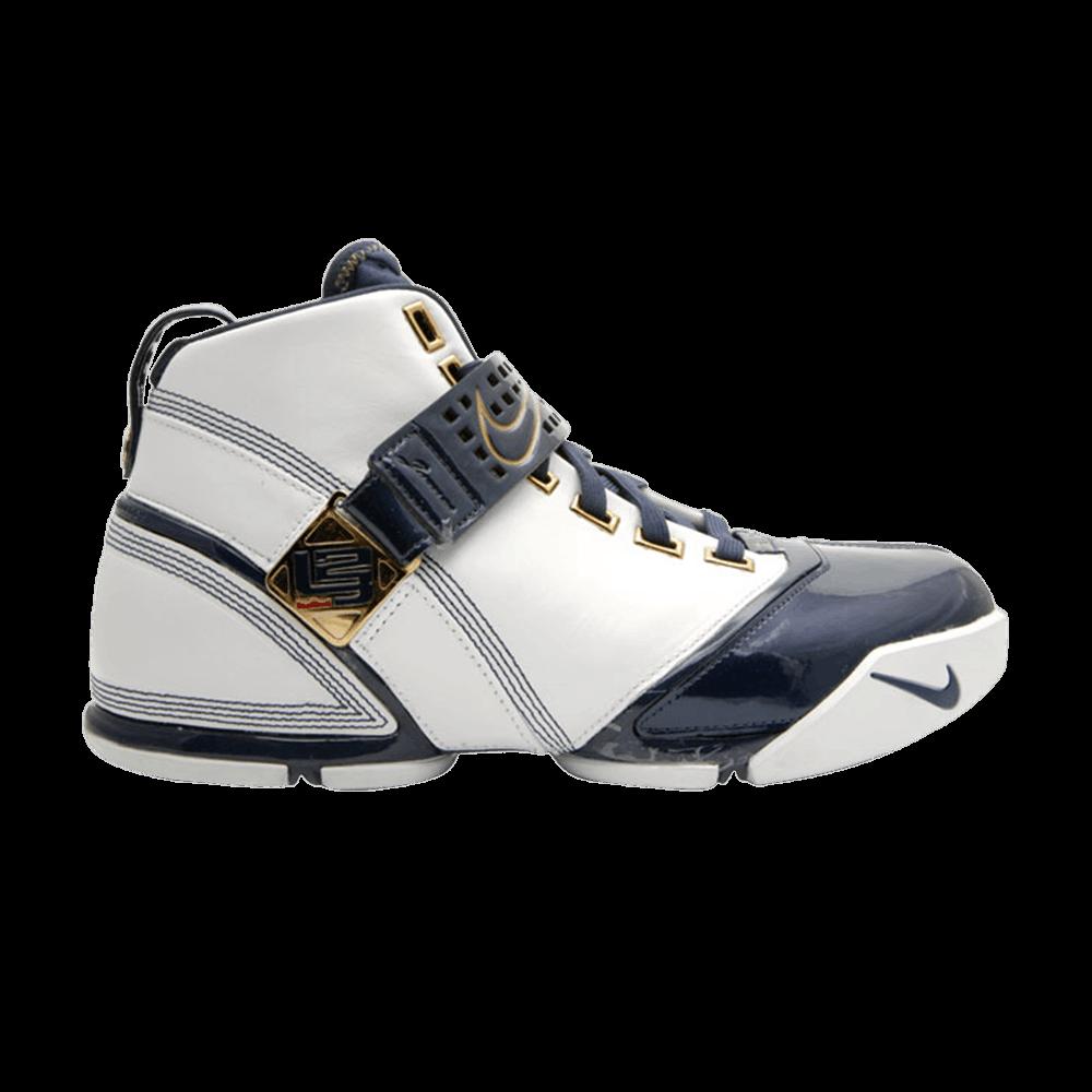50995c172fe9 Zoom LeBron 5  White Midnight Navy  - Nike - 317253 141