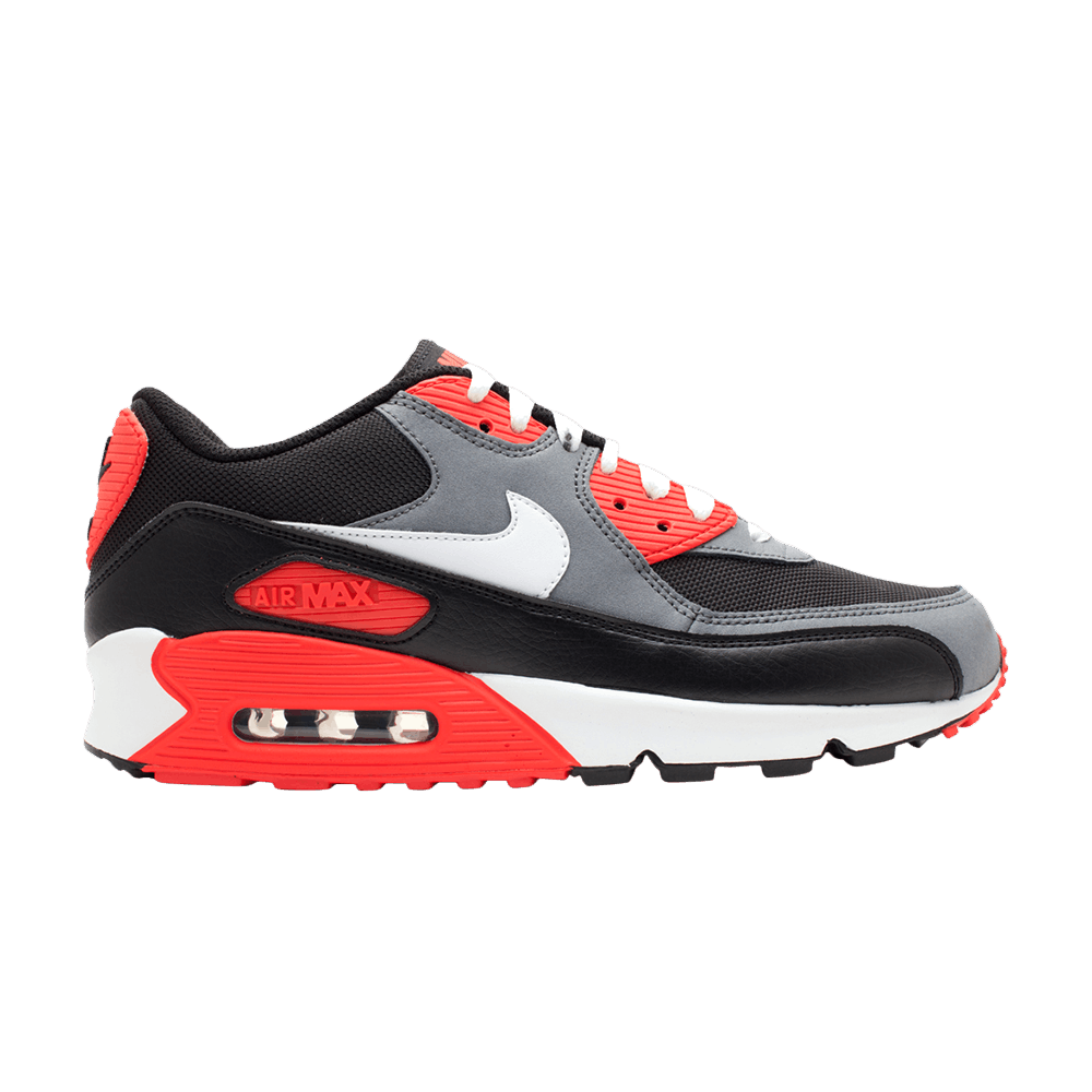 Air Max 90 Classic Black Infrared Grey Hot Flint Black White Red 345188 001