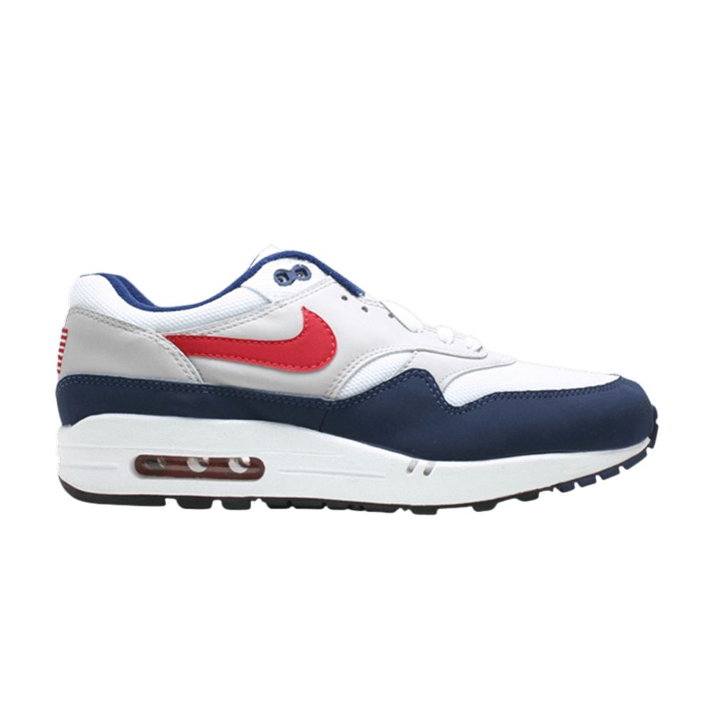 Nike Air Max 1 Original Mesh White Red Navy Running Sneakers 604139 162 Best Deal