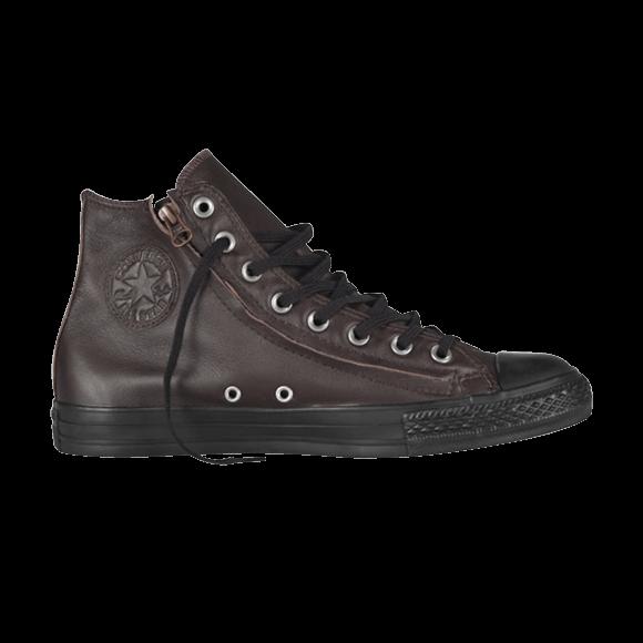 cdb7f006ed Chuck Taylor All Star Hi Top Double Zip Leather Mole - Converse - 140002 |  GOAT