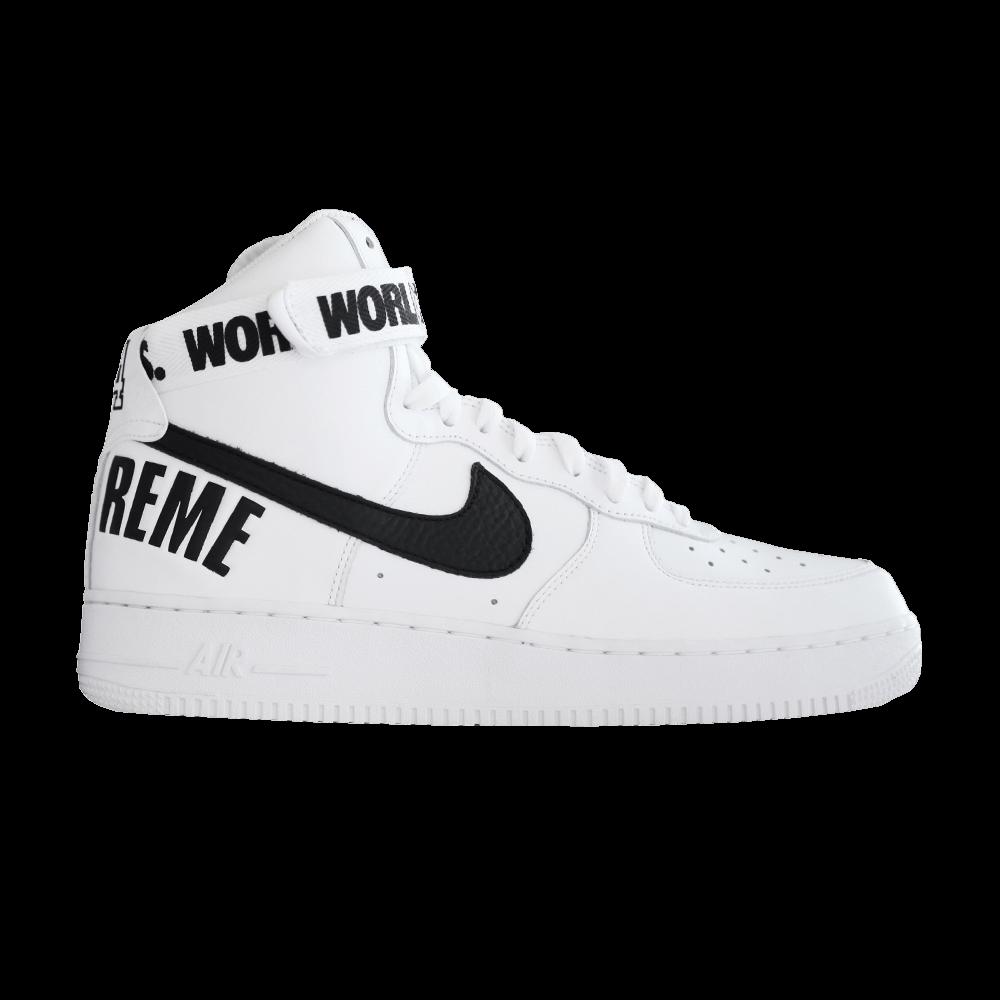 huge selection of 113f9 e0c03 Supreme x Air Force 1 High Supreme  White  - Nike - 698696 100   GOAT