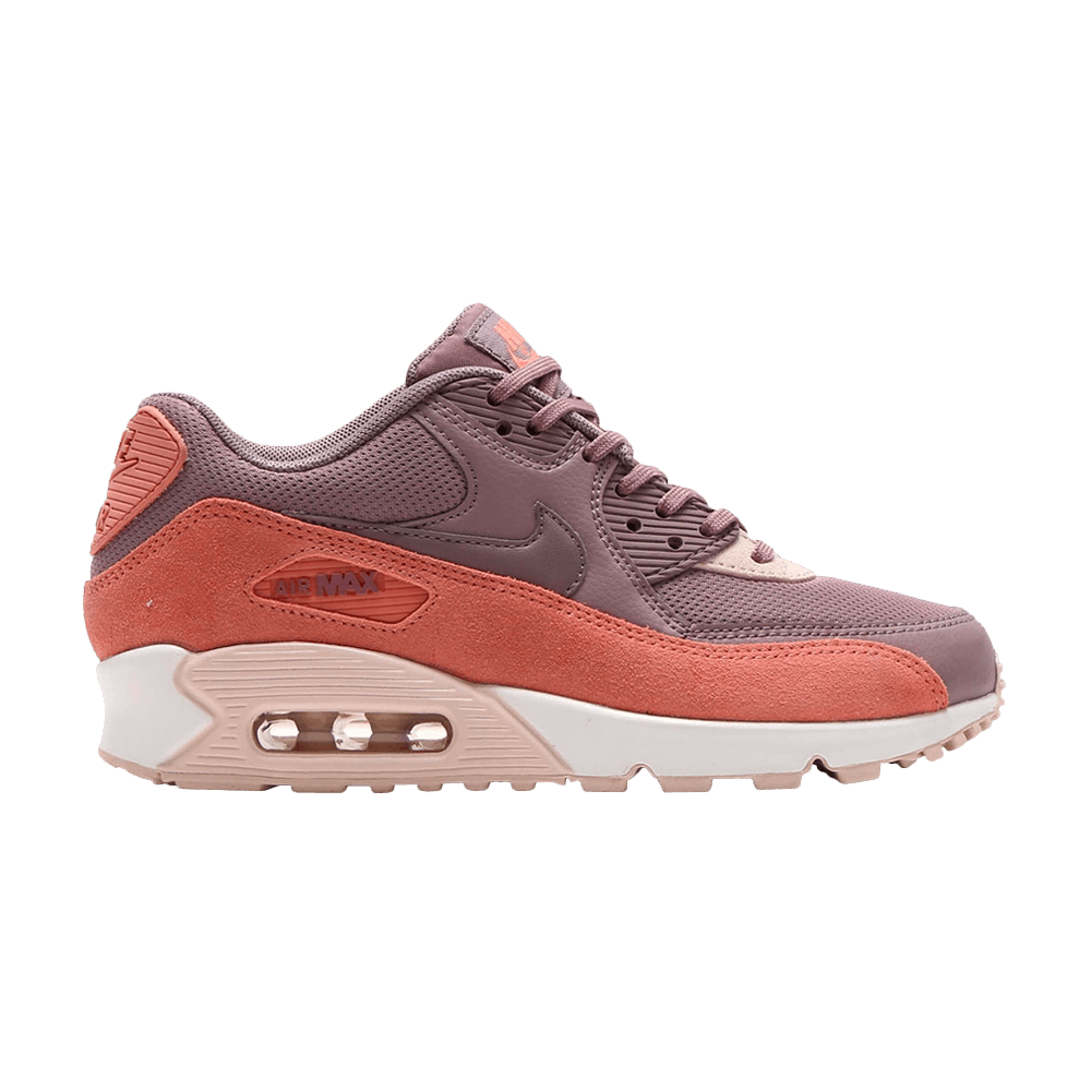 Nike Women's Air Max 90 Running Shoe In Red StardustTaupe