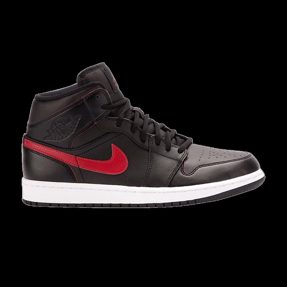 size 40 0ccb4 20ca8 Air Jordan 1 Retro Mid  Black Team Red  - Air Jordan - 554724 009   GOAT
