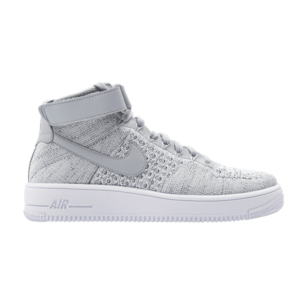 Nike Air Force 1 Ultra Flyknit Mid Wolf Grey White 817420 003