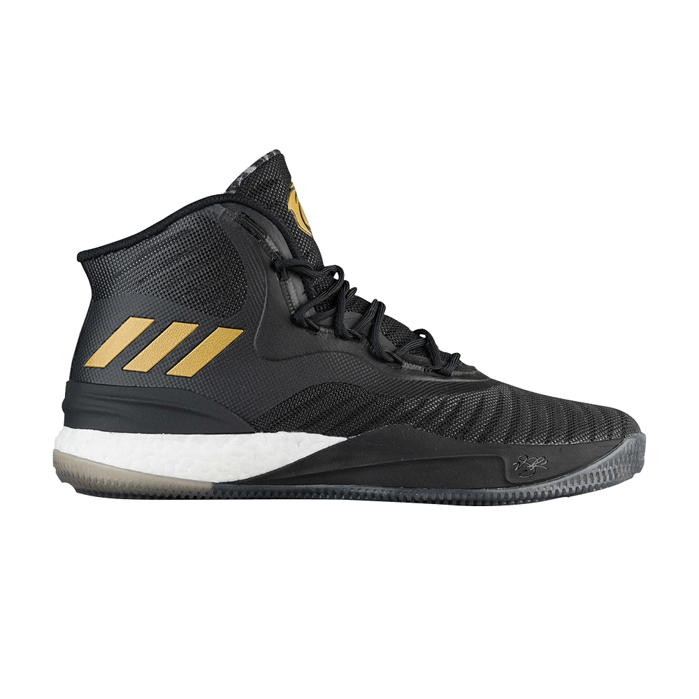 6f2683af3cef D Rose 8  Black Gold White  - adidas - CQ1618