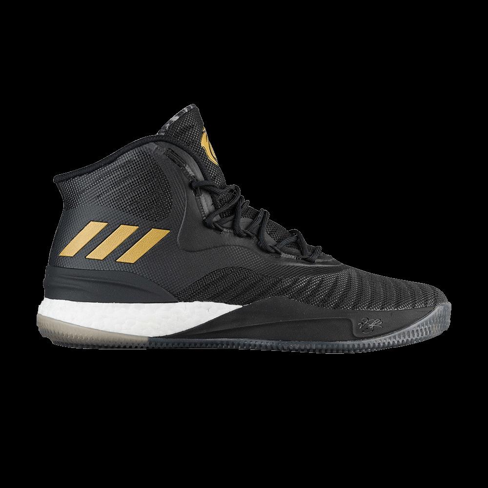 3f73cde38b18 D Rose 8  Black Gold White  - adidas - CQ1618