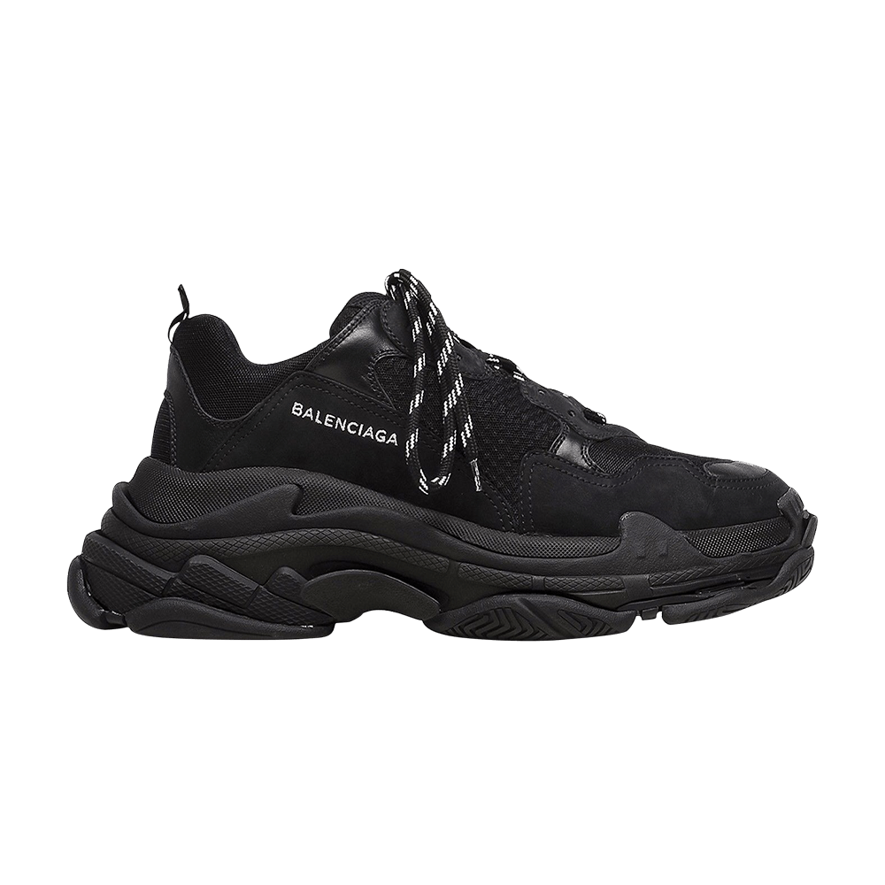 a17ed0c3ebf35 Balenciaga Triple S Trainer  All Black Distressed  - Balenciaga -  483514W06E11000