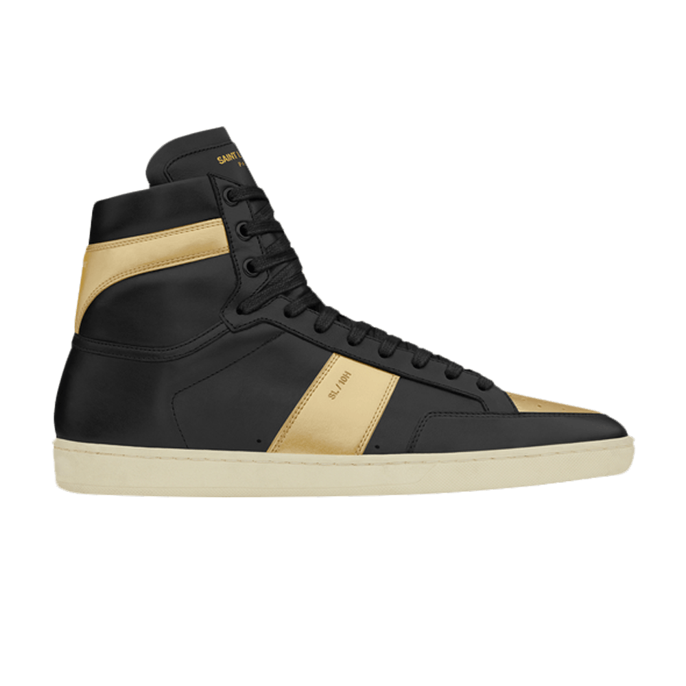 1d611b5a310b Saint Laurent Signature Court Classic SL 10H High Top Sneaker  Black Gold   - Saint Laurent - 418026 D2650 1080