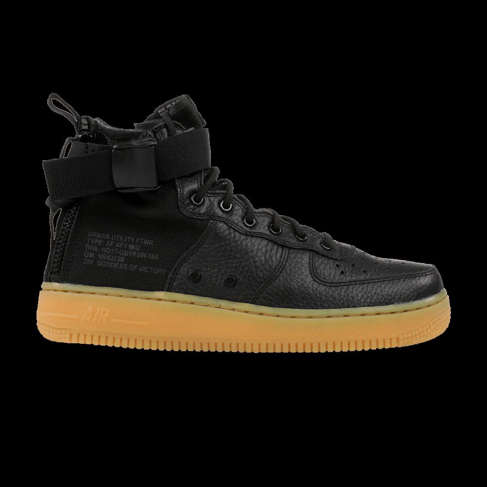 SF Air Force 1 Mid GS  Black Gum  - Nike - AJ0424 001  c1d399e60