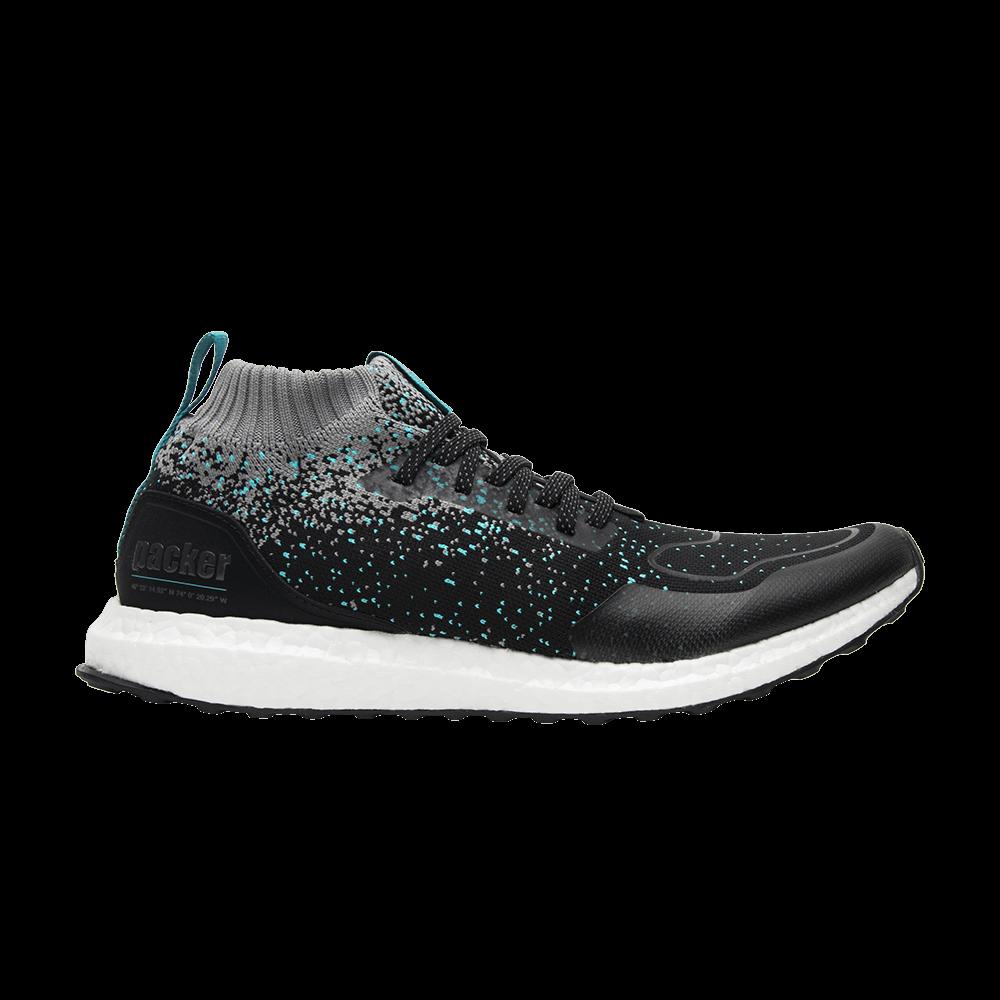 c73c3b80469ca Solebox x Packer Shoes x UltraBoost Mid  Core Black Energy Blue  - adidas -  CM7882