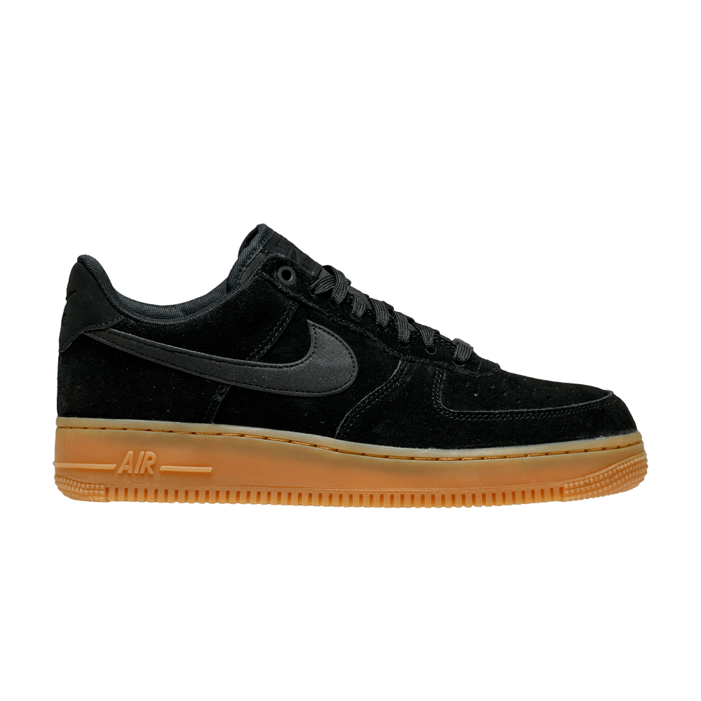 Nike Air Force 1 '07 LV8 Suede Black Gum AA1117 001 For Sale