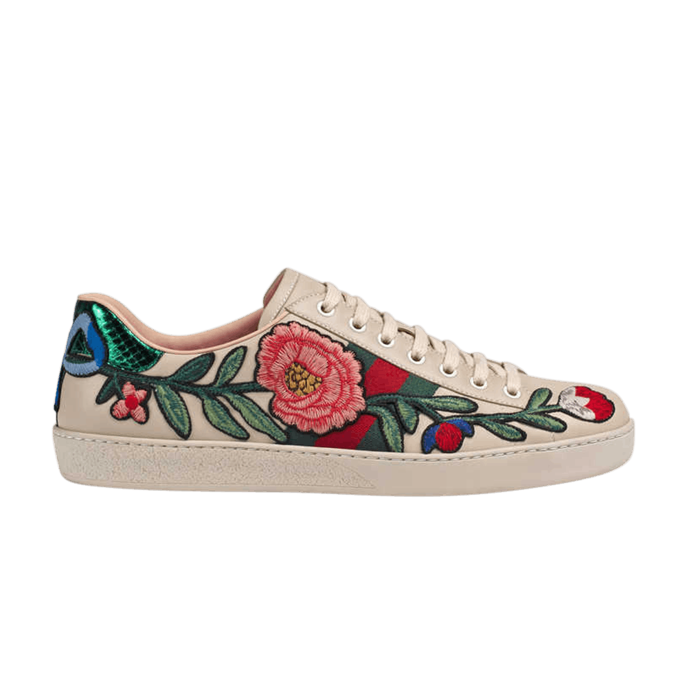 bd55b33d9b6 Gucci Ace Embroidered  Floral  - Gucci - 440659 A38G0 9081