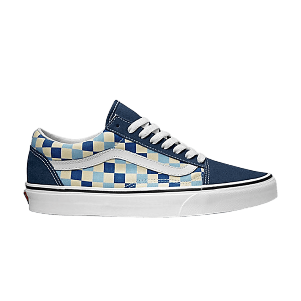 checker vans blue