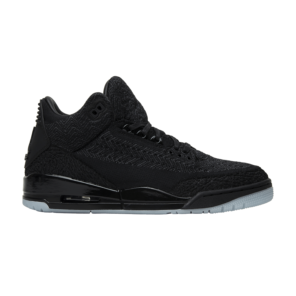 san francisco c7454 98e42 Air Jordan 3 Retro Flyknit 'Black'