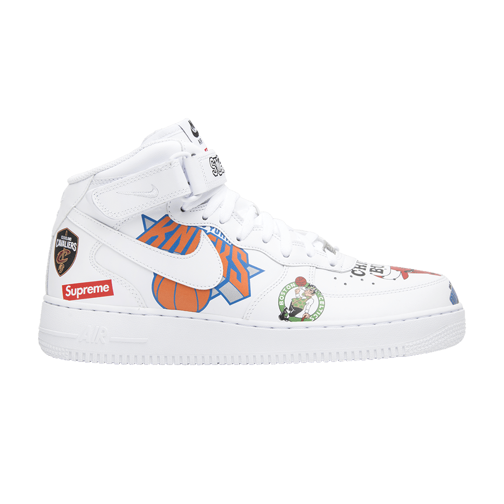 newest 3f08b 9bd6f Supreme x NBA x Air Force 1 Mid 07 'White'