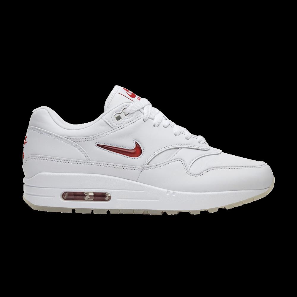 d7a3b369d3 Air Max 1 Premium SC Jewel 'White Red' - Nike - 918354 104 | GOAT