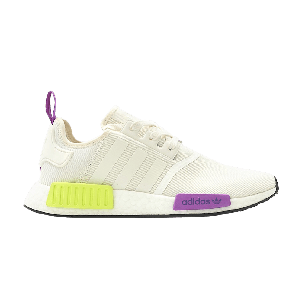 adidas Originals NMD R1 Boost (Off WhitePurpleNeon Yellow) D96626