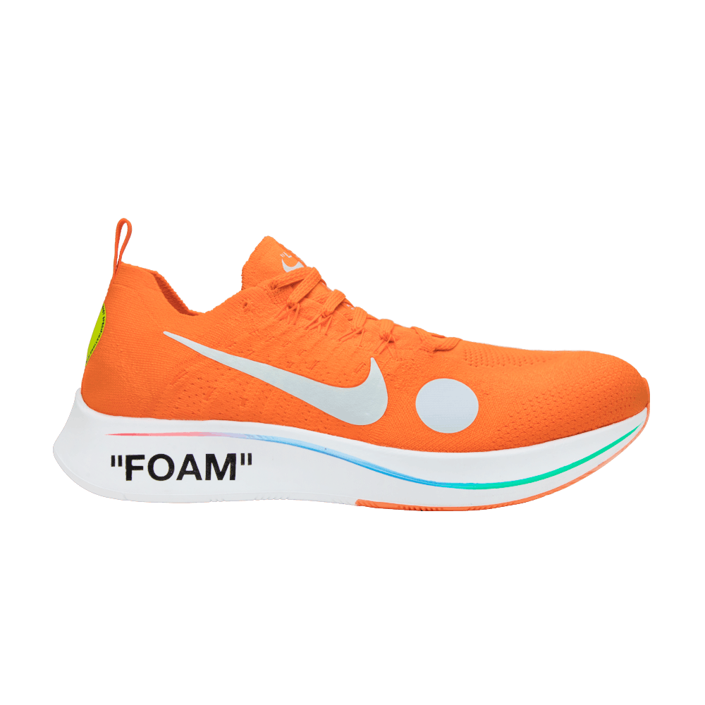 7a612d6a1fe5 OFF-WHITE x Zoom Fly Mercurial Flyknit  Total Orange  - Nike - AO2115 800