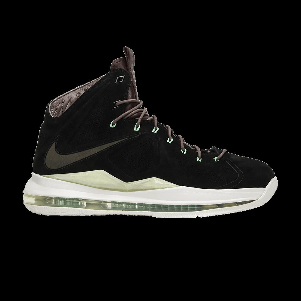 2b8f8daf17f9fb LeBron 10 EXT QS  Black Suede  - Nike - 607078 001