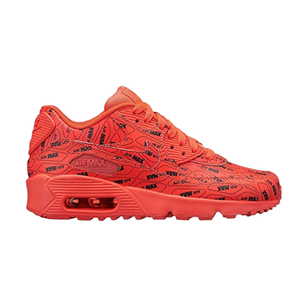 buy popular 6ac3d 7d16d Air Max 90 SE GS  All Over Logo  - Nike - 859560 600   GOAT