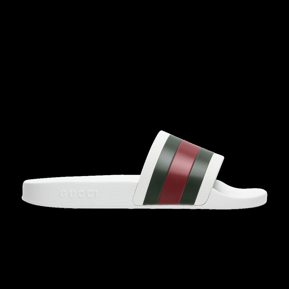 9c1a93268f2 Gucci Pursuit  72 Rubber Slide  White  - Gucci - 308234 GIB10 9079 ...