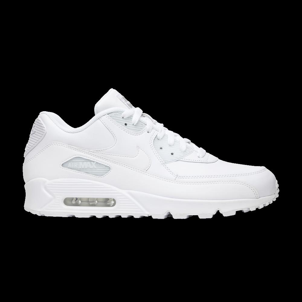 sale retailer 82b6d feb55 Air Max 90  White Leather  - Nike - 302519 113   GOAT