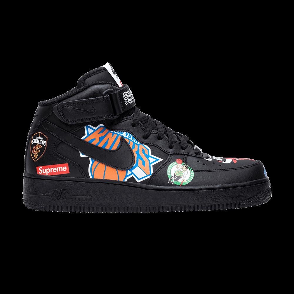 sneakers for cheap 9e1db 461d3 Supreme x NBA x Air Force 1 Mid 07  Black  - Nike - AQ8017 001   GOAT