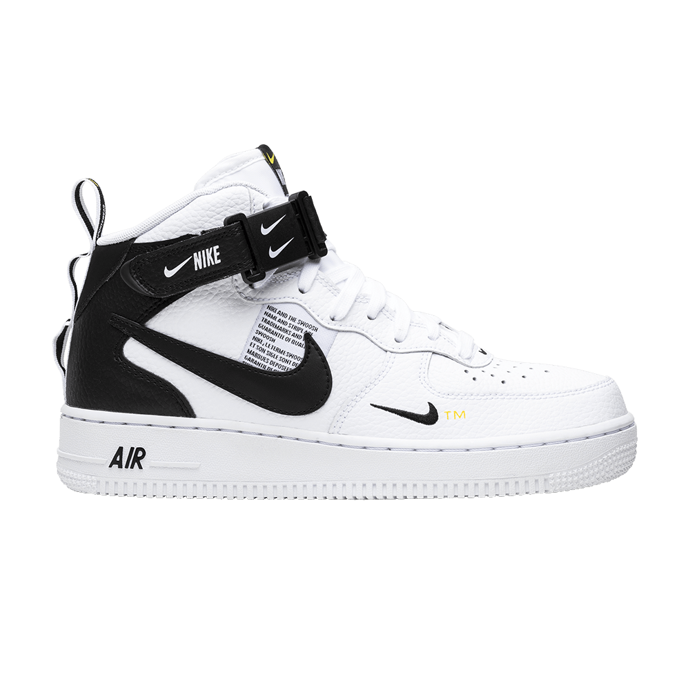 new concept ab9d8 46c9a Air Force 1 Mid  07 LV8  White Black  - Nike - 804609 103   GOAT