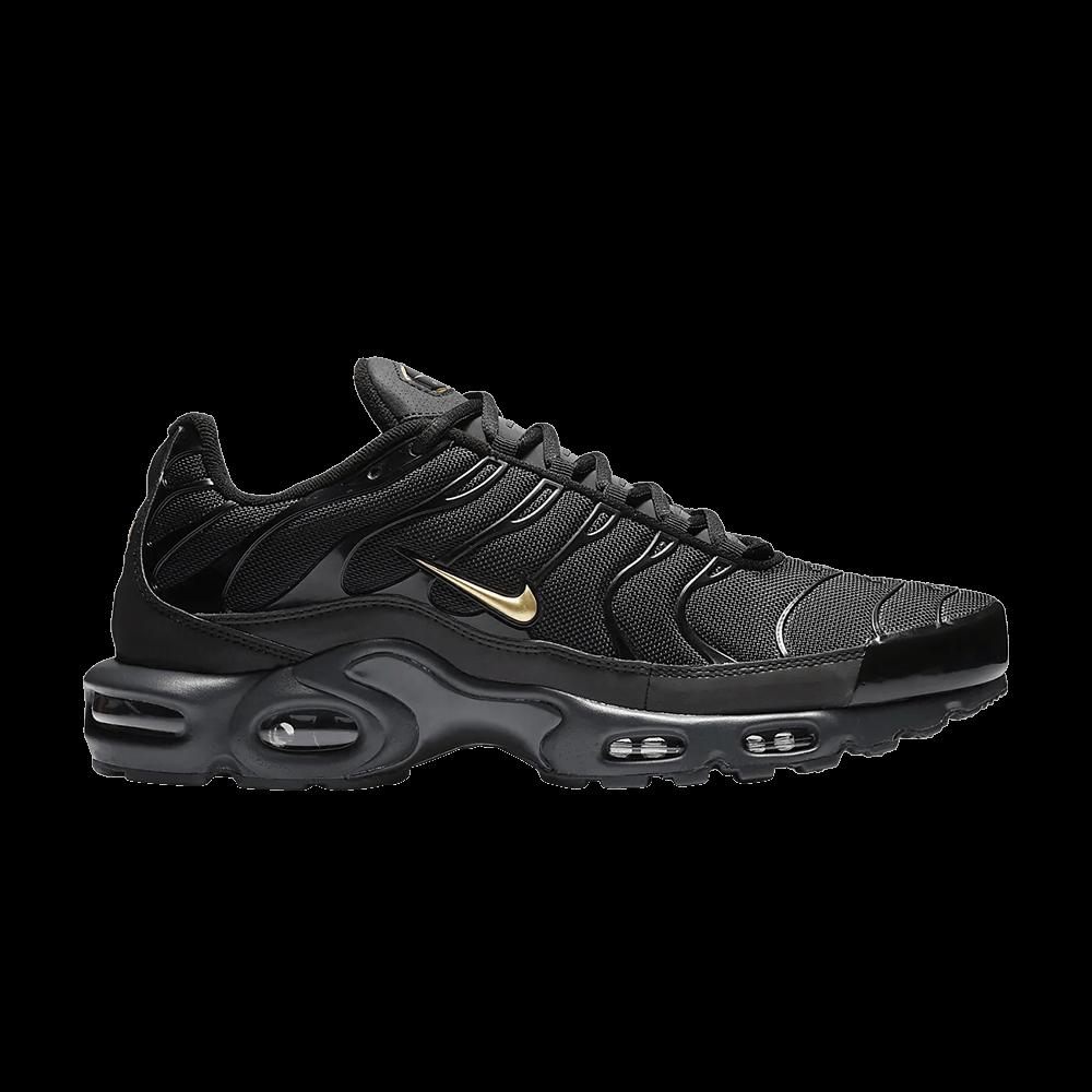 sneakers for cheap 6e336 ed40a Air Max Plus TN  Black Metallic Gold  - Nike - BQ3169 002   GOAT