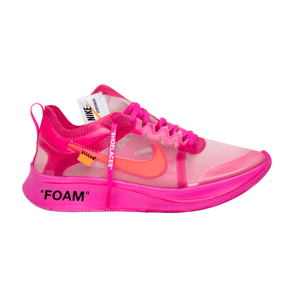 ef45f64fd127 OFF-WHITE x Zoom Fly SP  Tulip Pink  - Nike - AJ4588 600
