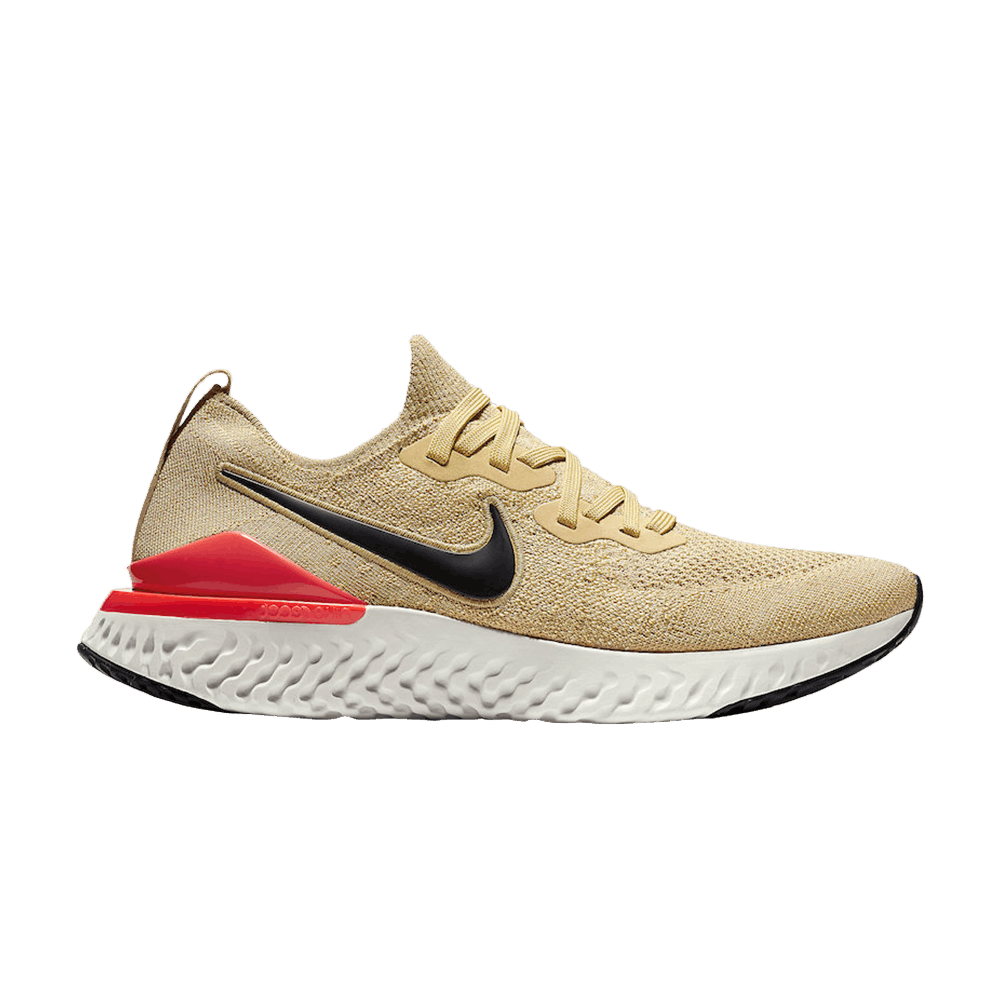 100% authentic acc74 82457 Epic React Flyknit 2  Club Gold  - Nike - BQ8928 700   GOAT