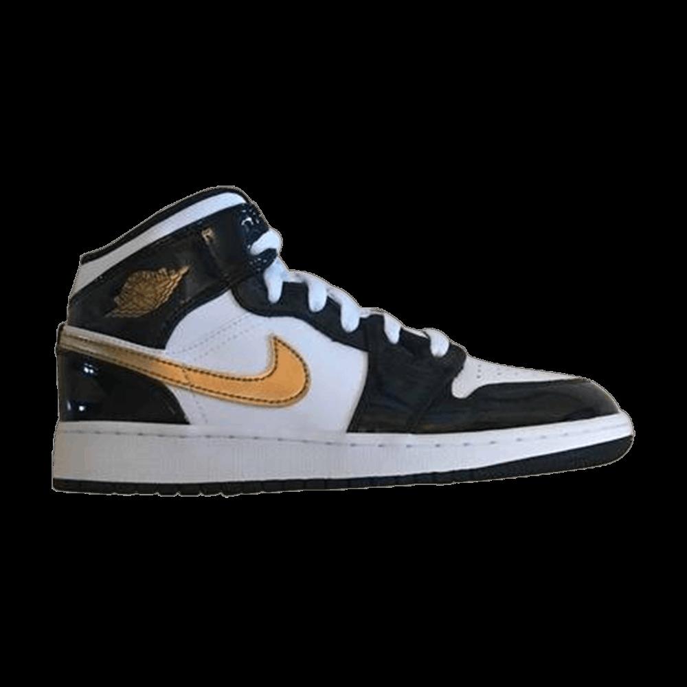 online store 02c37 9146e Air Jordan 1 Mid SE GS  Black Gold  - Air Jordan - BQ6931 007   GOAT