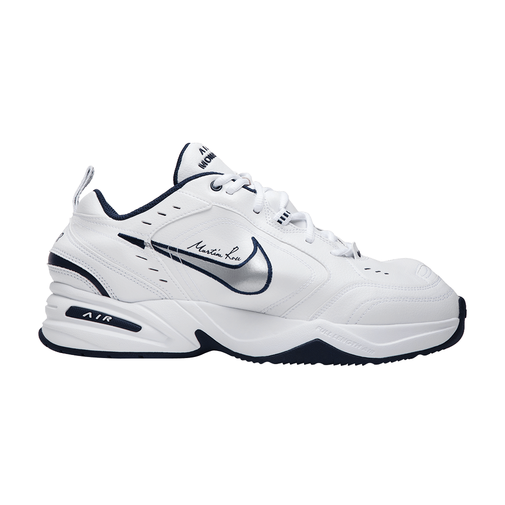 best service a4fc2 21d39 Martine Rose x Air Monarch IV  White Navy  - Nike - AT3147 100   GOAT
