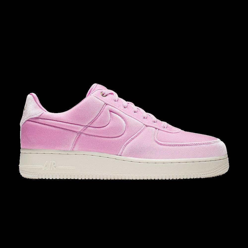 wholesale dealer 6c6a8 dc891 Air Force 1 Low  07 Premium  Pink Velour  - Nike - AT4144 600   GOAT