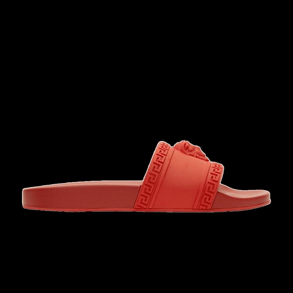 Versace Palazzo Medusa Pool Slide Red Versace