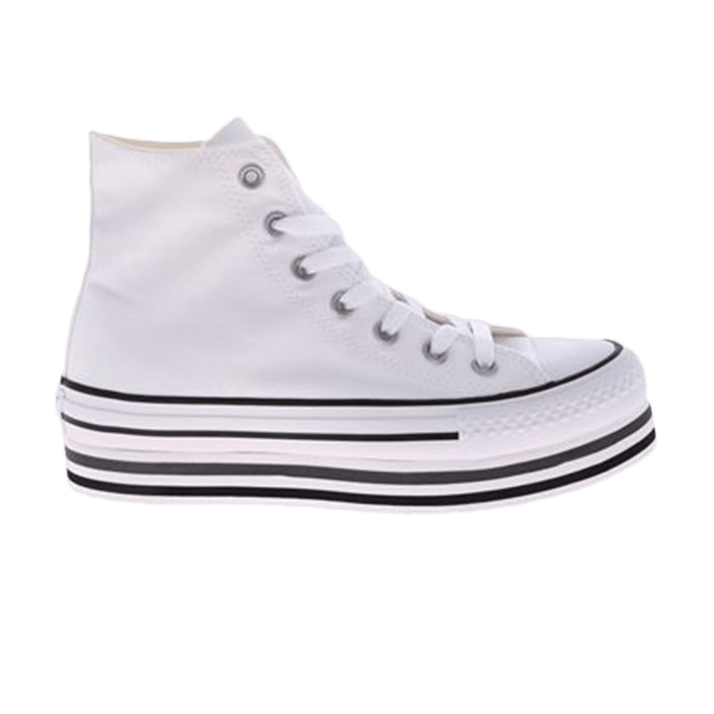 Wmns Chuck Taylor All Star Platfrom Layer Hi 'White'